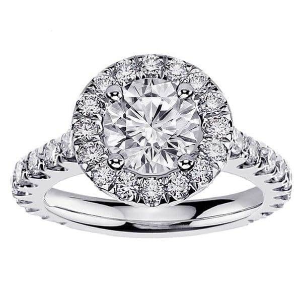 14k White Gold 2 1/2ct TDW Clarity-enhanced Diamond Engagement Ring (F-G, SI1-SI2)