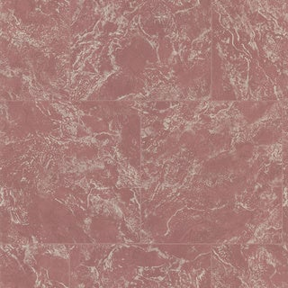 Brewster Maroon Marble Tile Wallpaper