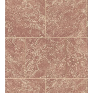 Brewster Sepia Marble Tile Wallpaper