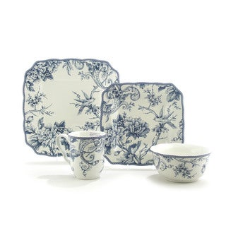 Sale alerts for  222 Fifth Adelaide Blue/ White 16-piece Dinnerware Set - Covvet
