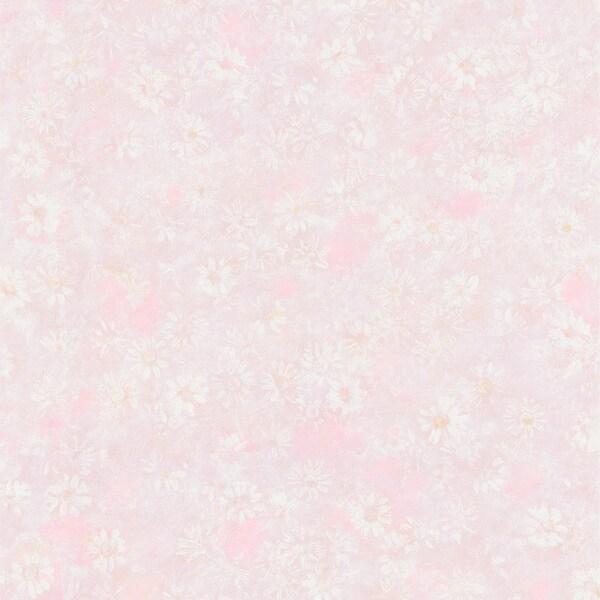 Brewster Pink Daisy Texture Wallpaper