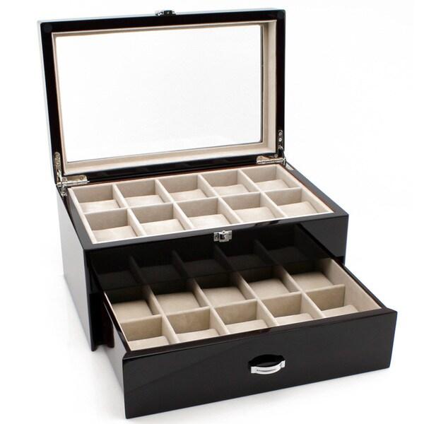 Heiden Premier Cherrywood Watch Box (20 watches)
