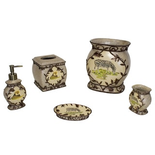 Sherry Kline Jungle Safari Bath Accessory 5-piece Set