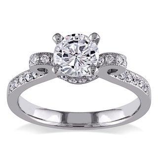 Miadora 14k White Gold 1ct TDW Diamond Bow Ring (G-H, I1-I2)