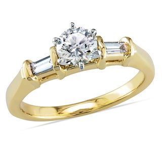 Miadora 14k Yellow Gold 5/8ct TDW Diamond Engagement Ring (G-H, I1-I2)