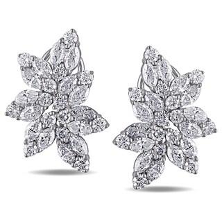 Miadora 14k White Gold 5 7/8ct TDW Vintage Diamond Earrings (G-H, SI1-SI2)