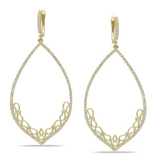 14k Yellow Gold 4/5 TDW Diamond Dangle Earrings (H-I, I1-I2)