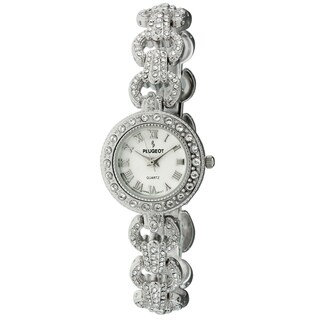 Peugeot Women's Silvertone Crystal Watch