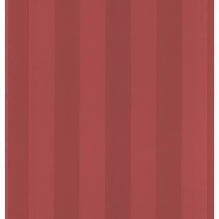 Brewster Burgundy Stripes Wallpaper