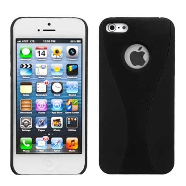 INSTEN Black Wave Back Protector Phone Case for Apple iPhone 5/ 5S/ 5C/ SE
