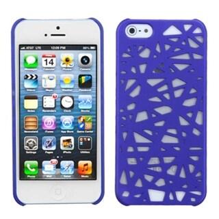 INSTEN Dark Blue Bird Nest Back Protector Phone Case Cover for Apple iPhone 5