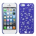 BasAcc Dark Blue Bird Nest Back Protector Case for Apple iPhone 5