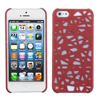 BasAcc Red Bird's Nest Rubberized Protector Case for Apple iPhone 5