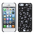 BasAcc Black Bird's Nest Rubberized Protector Case for Apple iPhone 5