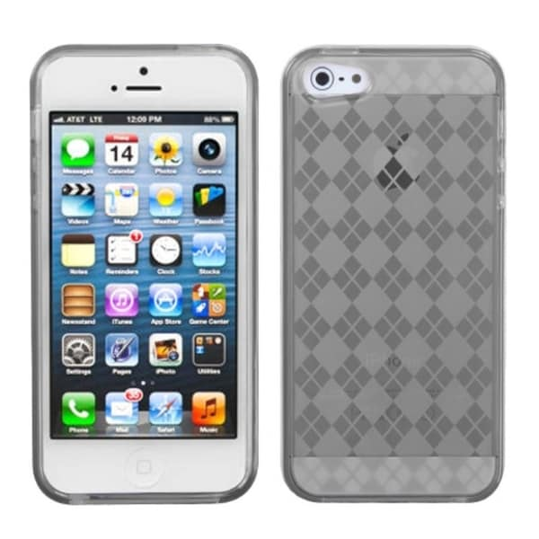 INSTEN Smoke Argyle Candy Skin Phone Case Cover for Apple iPhone 5