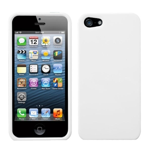 INSTEN Solid Ivory White Phone Case Cover for Apple iPhone 5