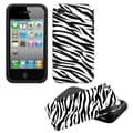 BasAcc Zebra Skin Fusion Case for Apple iPhone 4/ 4S