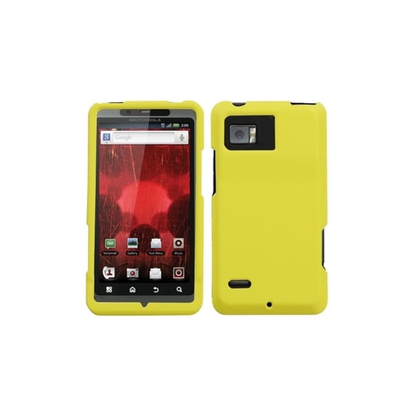 INSTEN Yellow Rubberized Phone Case Cover for Motorola XT875 Droid Bionic
