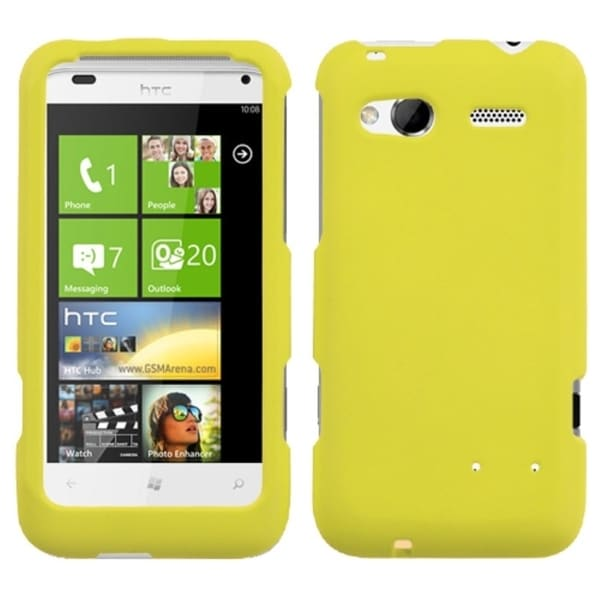 INSTEN Yellow Rubberized Phone Case Cover for HTC Radar 4G