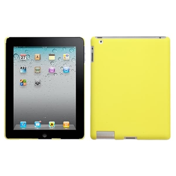 INSTEN Yellow Back Tablet Case Cover for Apple iPad 1/ 2/ 4 with Retina display