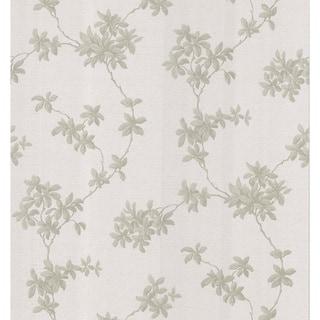 Brewster Taupe Leaf Trail Wallpaper
