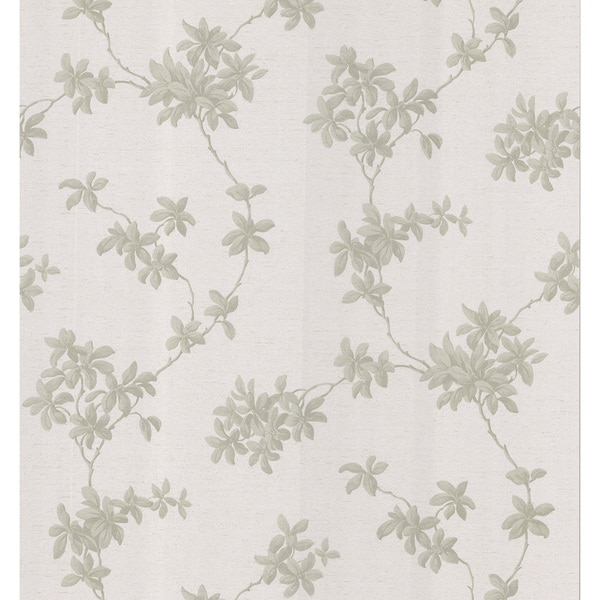 Brewster Taupe Leaf Trail Wallpaper