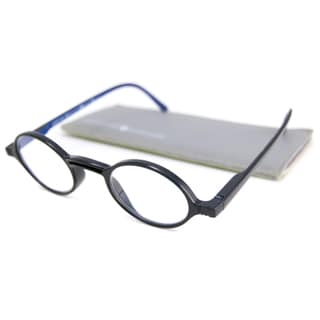 Gabriel + Simone Readers Men's/Unisex Rond Round Black-and-Blue Reading Glasses