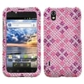 BasAcc Plaid Hot Pink/ Purple Diamante Phone Case for LG LS855 Marquee