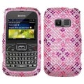 BasAcc Plaid Hot Pink/ Purple Diamante Case for Kyocera S3015 Brio