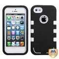 BasAcc Ivory White/ Black TUFF eNUFF Hybrid Case for Apple iPhone 5