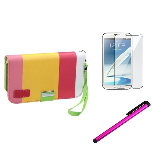 BasAcc Case/ Screen Protector/ Stylus for Samsung© Galaxy Note 2 N7100