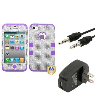 BasAcc Case/ Travel Charger/ Audio Cable for Apple iPhone 4/ 4S