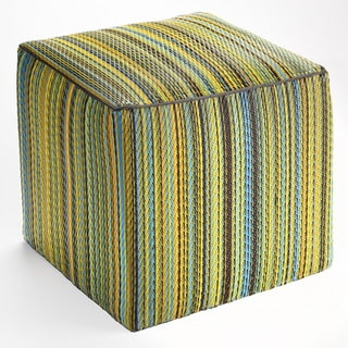 Fab Habitat Indoor/ Outdoor Lemon and Apple Green Pouf Ottomon