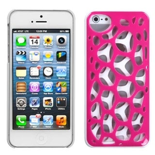 BasAcc Hot Pink/ White Synapse Case for Apple iPhone 5