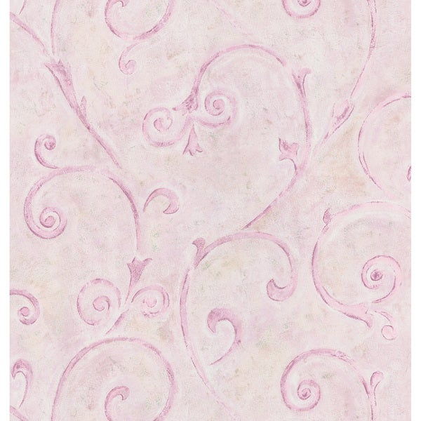 Violet Scrolls Wallpaper
