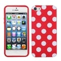 BasAcc White Polka Dots/ Red Case for Apple iPhone 5