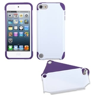 INSTEN White/ Purple Frosted Fusion iPod Case Cover for Apple iPod Touch 5