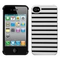 BasAcc White Fusion Rubberized Case for Apple iPhone 4/ 4S