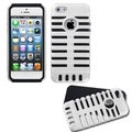 BasAcc White/ Black Microphone Fusion Case for Apple iPhone 5