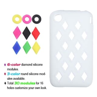 BasAcc White Module Skin Case for Apple iPhone 3G/ 3GS