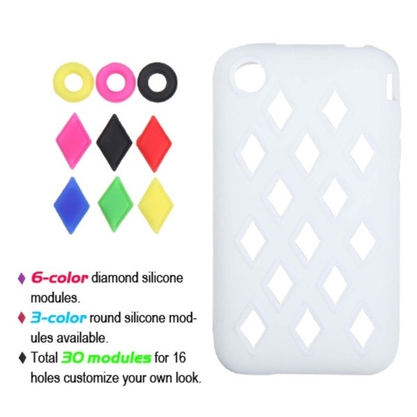 INSTEN White Module Skin Phone Case Cover for Apple iPhone 3G/ 3GS