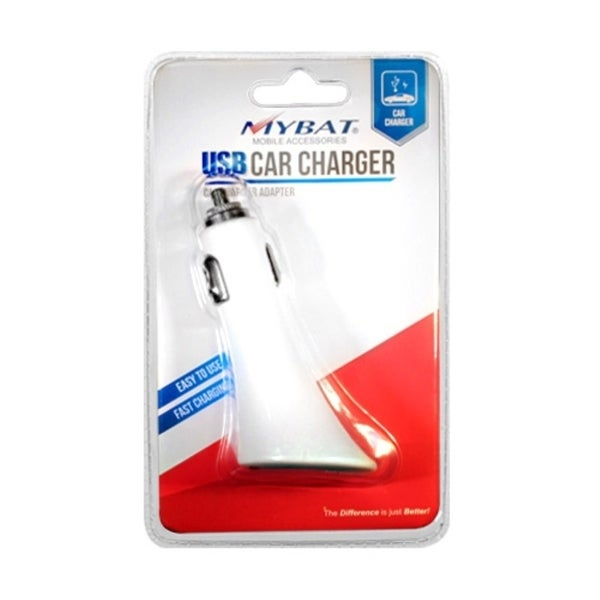 INSTEN White In-Car USB Charger Adapter Hot Press