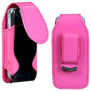 INSTEN Hot Pink/ Black Pouch-Style Phone Case Cover for Sony Ericsson W350/ W350i