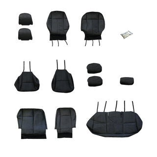 FH Group Custom Fit Black Leather 2009-2011 Toyota Corolla Seat Covers (Full Set)
