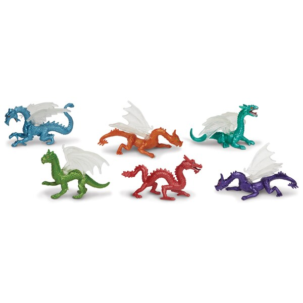 Designer Plastic Miniatures In Toobs-Dragons