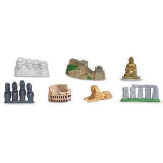 Plastic Miniatures In Toobs-World Landmarks
