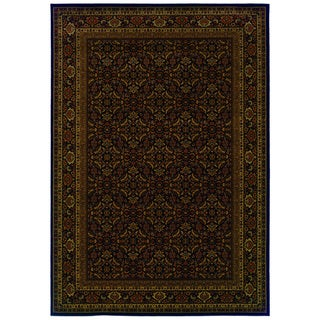 Traditional Black/ Red Area Rug (3'10 x 5'5)