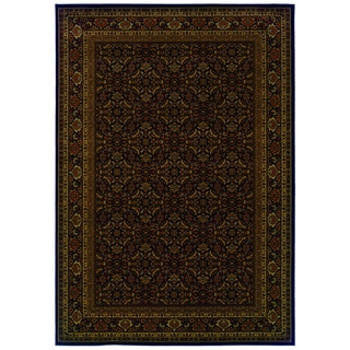 Traditional Black/ Red Area Rug (5'3 x 7'6)