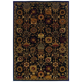 Traditional Black/ Multi Area Rug (7'10 x 10'10)