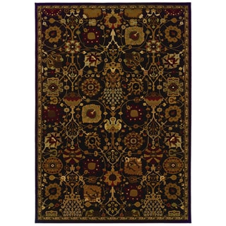Traditional Brown/ Multi Area Rug (5'3 x 7'6)